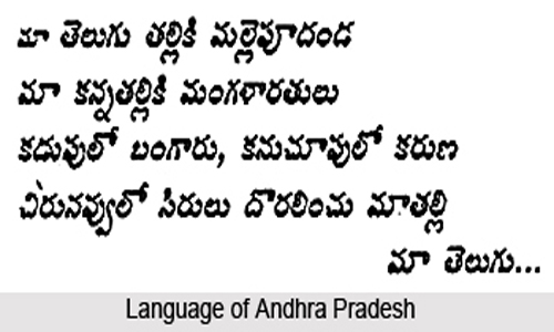 language of Andhra Pradesh